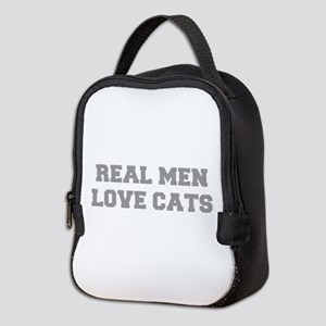 real-men-love-cats-FRESH-GRAY Neoprene Lunch Bag